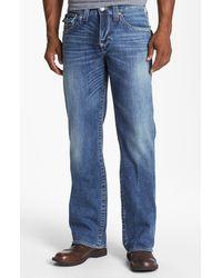 True Religion | Black Ricky Straight Leg Jean for Men | Lyst