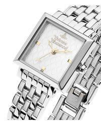 Vivienne Westwood Metallic Silver Exhibitor Watch