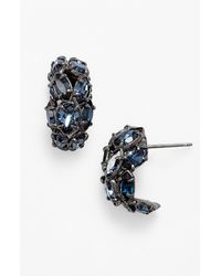 Alexis Bittar | Blue Coiled Serpent Clip-on Earrings - Gunmetal | Lyst