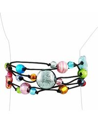 Antica Murrina - Blue Cancun Murano Glass Beads Flowers Multistrand Bracelet - Lyst