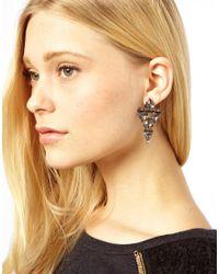 ASOS - Black Designsix Casper Stud Earrings - Lyst