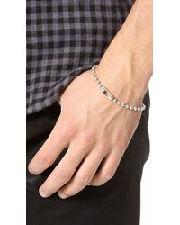 Giles & Brother - Metallic Ball Chain Bracelet for Men - Lyst