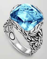 John Hardy | Batu Chain Blue Topaz Ring | Lyst