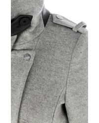 Karen Millen Gray Signature Modern Tailored Coat