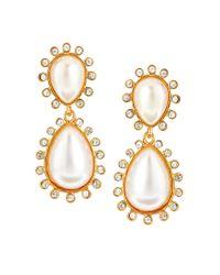 Kenneth Jay Lane | White Pearl Drop Earrings | Lyst