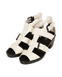 TOPSHOP - White Neptune Gladiator Sandals - Lyst