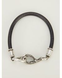 Ann Demeulemeester Black Bird Foot Bracelet for men
