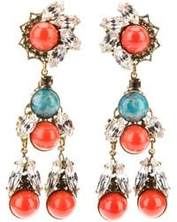 Anton Heunis | Multicolor Crystal Drop Earrings | Lyst
