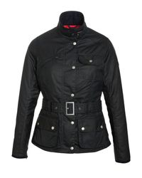 Barbour Blue Hillberry Belted Wax Jacket