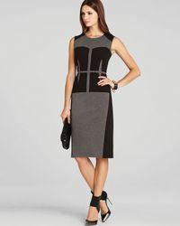 bcbgmaxazria dress karlie blocked corset in gray  lyst