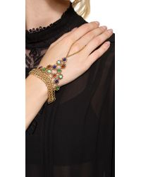 Ben-Amun - Multicolor Multi Stone Hand Piece - Lyst