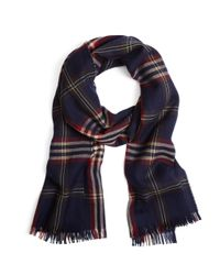 Brooks Brothers - Blue Signature Tartan Wrap - Lyst