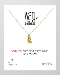 Dogeared | Metallic 14K Vermeil Yorkie Dog Necklace | Lyst