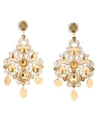 Dolce & Gabbana | Metallic Chandelier Earrings | Lyst