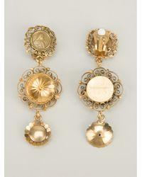 Dolce & Gabbana Metallic Pendant Earrings