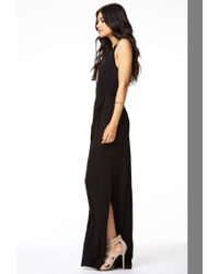 Forever 21 - Black Cutout Jersey Knit Maxi Dress - Lyst