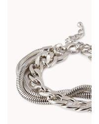 Forever 21 - Metallic Edgy Chain Bracelet - Lyst