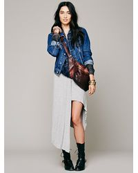 Free People Gray Gypsy Junkies Free People Taxi Cab Knit Skirt