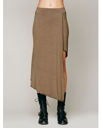 Free People Green Gypsy Junkies Free People Taxi Cab Knit Skirt