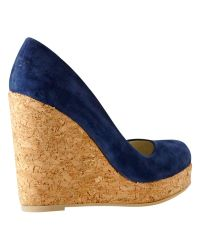 Hobbs Blue London Myra Wedged Court Shoes