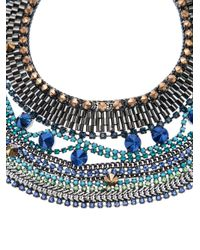 Iosselliani - Blue Large Bib Necklace - Lyst