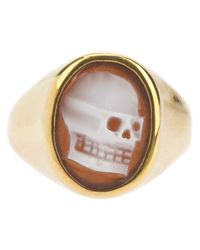 Iosselliani | Metallic Skull Cameo Ring | Lyst