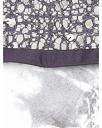 Jacques Vert Gray Brushstroke Lace Top