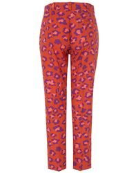 Jaeger Pink Leopard Print Trousers