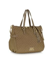 Juicy Couture | Brown Lauryn Nylon and Leather Quilted Venice Tote | Lyst