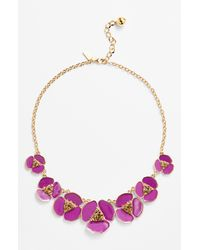 kate spade new york | Purple Disco Pansy Graduated Necklace | Lyst