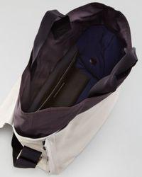 Lanvin - Black Calfskin Twotone Tote Bag Ecru for Men - Lyst