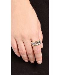 Michael Kors Metallic Baguette Plaque Ring