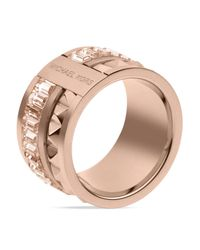 Michael Kors | Pink Pyramid Baguette Barrel Ring | Lyst