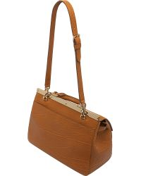 Mulberry Brown Suffolk Small Shrunken Calf Leather Bag