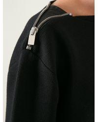 Saint Laurent Black Zip Shoulder Sweater for men