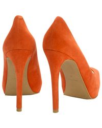 Whistles Red Cherrute Peep Platform Shoes