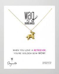 Dogeared | Metallic 14K Vermeil Golden Retriever Dog Necklace | Lyst