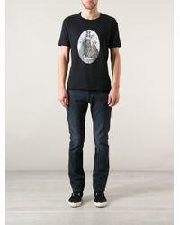 Dolce & Gabbana - Black Graphic Design Tshirt for Men - Lyst