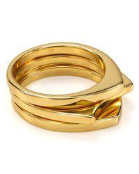 Gorjana | Metallic Aria Ring Set Of 3 | Lyst