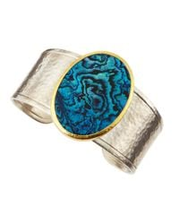 Gurhan - Metallic Surf Two Tone Paua Shell Cuff - Lyst