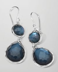 Ippolita - Blue Sterling Silver Wonderland Mini Teardrop Snowman Earrings in Indigo - Lyst