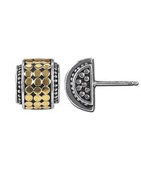 John Hardy - Metallic Highway Mini Dot Earrings - Lyst