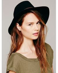 Hat Attack | Black Leather Banded Floppy H | Lyst