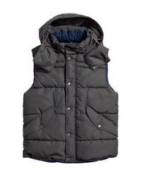 H&M | Gray Padded Waistcoat for Men | Lyst