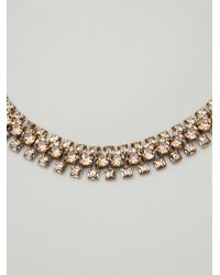 Lanvin - Metallic Multiple Layer Choker Necklace - Lyst
