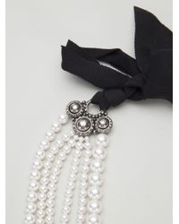 Lanvin - White Multiple Strand Pearl Necklace - Lyst