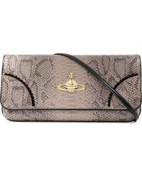 e505b1d05b Vivienne Westwood Frilly Snake Patent Clutch in Gray - Lyst