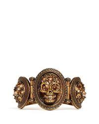 Alexander McQueen | Metallic Stone Skull Bracelet | Lyst