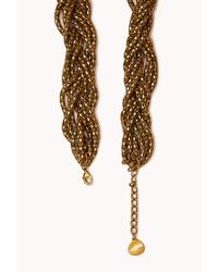 Forever 21 Metallic Braided Popcorn Chain Necklace