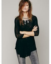 Free People | Black Weekends Layering Top | Lyst